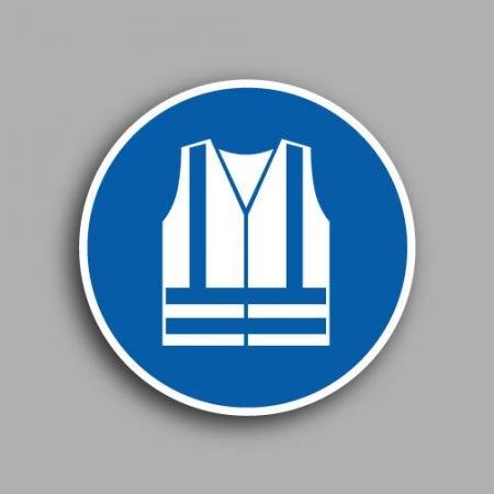 Etichetta con simbolo ISO 7010 M015 | Obbligatorio indossare gli indumenti di alta visibilità