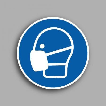 Etichetta con simbolo ISO 7010 M016 | Obbligatorio indossare la mascherina