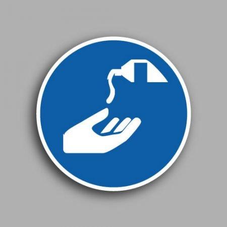 Etichetta con simbolo ISO 7010 M022 | Obbligatorio usare le crema barriera