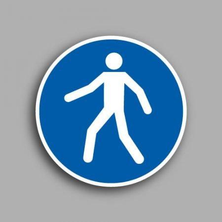 Etichetta con simbolo ISO 7010 M024 | Obbligatorio seguire il percorso pedonale