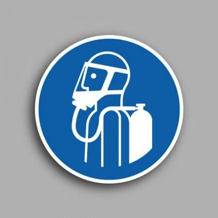 Segnali in pellicola adesiva | Simbolo M046 | Obbligatorio fissare, bloccare le bombole del gas