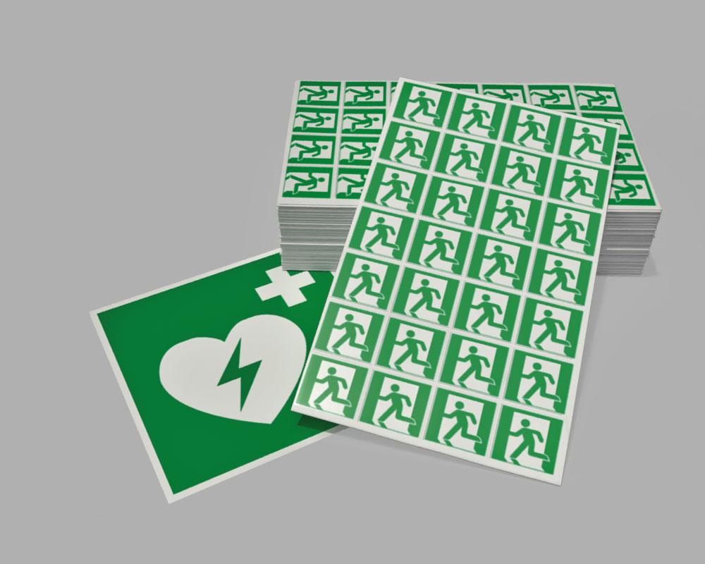 Pittogrammi di emergenza in pellicola adesiva