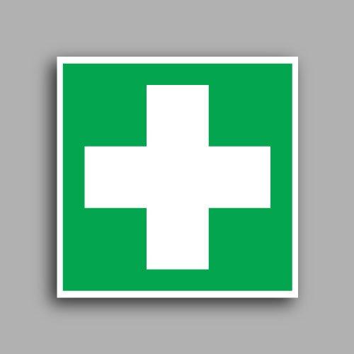 E003 etichettaadesiva con simbolo primo soccorso