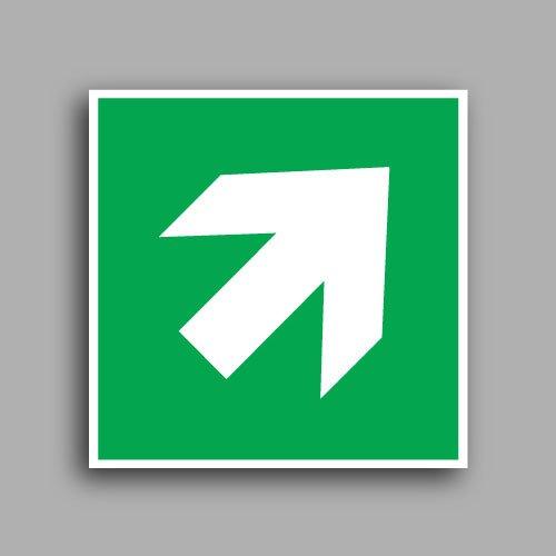 E006 etichetta adesiva con simbolo freccia direzionale destra/sinistra
