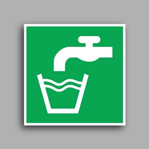 E015 etichetta adesiva con simbolo acqua potabile