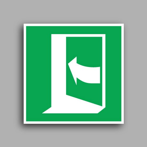 Simbolo E022 | Porta con apertura a spinta lato sinistro
