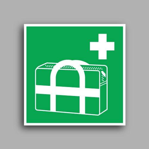 E027 etichetta con simbolo borsa medica di emergenza