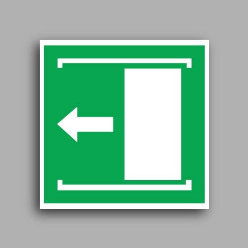 Simbolo E024 | Porta con apertura scorrevole verso sinistra