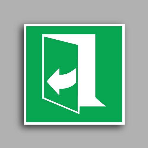 E058 etichetta con simbolo porta apribile tirando verso il lato sinistro